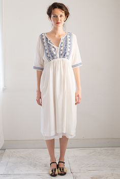 Alanna Dress in White - lazy bones