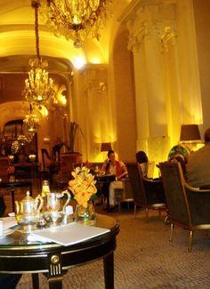 tea lounge at the hotel plaza athenee paris.