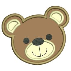 Home :: Design Packages :: Teddy Bear Face Applique Applique Embroidery Designs, Embroidery Stitches, Hand Embroidery, Elephant Face, Baby Elephant, Elephant Applique, Cute Stitch, Bear Face, Monogram
