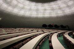 Amazing ceiling. Communist Party Headquarters, Paris. Oscar Niemeyer.