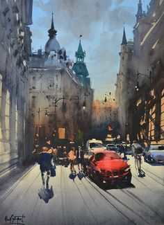 Alvaro Castagnet is one of today's most highly respected master watercolour artists in the world. Born in Montevideo, Uruguay, he is a member of the most distinguished art societies around the world. Has been recognized with top honours and medals in major international art competitions. Alvaro is an expressive