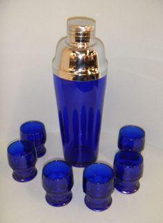 Cobalt Blue Bar Set