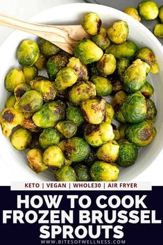 Make frozen brussel sprouts taste amazing with these super simple cooking techniques! Use the air fryer or the oven to make the perfect roasted frozen brussel sprouts! No cutting or prep required! Pair with your favorite protein for a simple meal! Air Fryer Recipes Appetizers, Air Fryer Recipes Vegetables, Air Fryer Recipes Snacks, Air Fryer Recipes Vegetarian, Air Fryer Recipes Low Carb, Air Fryer Recipes Breakfast, Healthy Recipes, Veggies, Easy Recipes