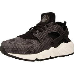 sports shoes 1a09e 35296 Wmns Air Huarache Run Premium Lifestyle Fashion Sneakers Women  Black Black-Sail-Dark Grey New -- See this great product. (This is an affiliate  link) 0