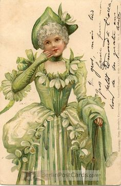 Ellen Jessie Andrews - English - (1857-1907) vintage postcard. This series of 10 or 12 postcards called Mädchen was published by Stroefer in 1901.