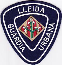 SPAIN Lleida Police patch, city seal, Catalunya