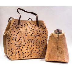 Looking at 'Cork with LACE, Large handbag with removable interior bag Natural /Brown ( 2 in 1 handbag)' on SHOP.CA