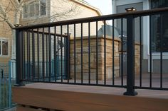 Our Fe²⁶ steel railing is one of the highest-quality, easy-to-install railing solutions on the market today. The best part? It can be customized to meet your needs. #SteelRailing #Steel #Railing #RailingSolution #EasyToInstall #HomeImprovement #SteelProducts #OutdoorBuilding #DeckRailing #Decking #DeckInspiration #RailingDesigns Deck Railing Systems, Deck Railing Design, Deck Railings, Steel Deck, Steel Railing, Outdoor Buildings, Decking, Wrought Iron, Home Improvement