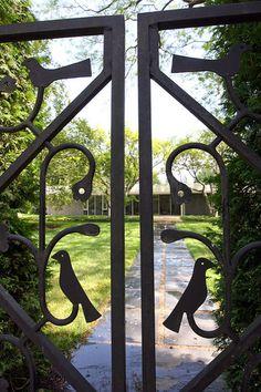 Gate designed by Alexander Girard, Miller House and Garden, Columbus, Indiana