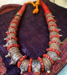 Old Berber Harratine Necklace with Old Rings by TuaregJewelry Ineke Hemminga