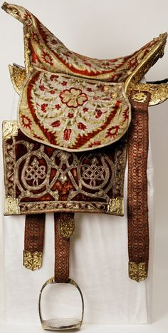 century Ottoman saddle with silk, velvet and gems. Horse Gear, Horse Tack, Imperial Russia, Horse Saddles, Royal Jewels, Ottoman Empire, Equestrian, Moscow Kremlin, Royalty