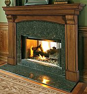 Pearl Mantels Blue Ridge Arched Fireplace Surround - Gather 'round the hearth in high style with the Pearl Mantels Blue Ridge Arched Fireplace Mantel. This traditional mantel surround features beautiful . Wood Fireplace Surrounds, Diy Fireplace Mantel, Fireplace Glass Doors, Wooden Mantel, Fireplace Remodel, Modern Fireplace, Fireplace Design, Fireplace Ideas, Mantel Ideas