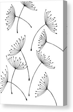Dandelion seeds Canvas Print / Canvas Art by Vilem Buchmann Doodle Art Art Buchmann Canvas Dandelion Print seeds Vilem Abstract Canvas, Canvas Art, Canvas Prints, Dandelion Drawing, Dandelion Seeds, Dandelion Art, Art Sur Toile, Doodle Art Drawing, Line Drawing Art