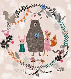 森のパーティー: 可愛いイラスト 画像無料
