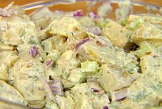 Dill Potato Salad from FoodNetwork.com-I didn't boil the potatoes like she said and I used regular russet potatoes.  Also I just used 4tbsp of regular mustard and used fresh dill like it said not dried.  Turned out pretty good (didn't even let it sit either).  Will make again.
