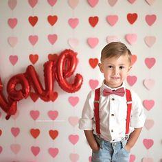 Super cute Valentine's Day little gentleman