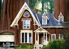 giant sequoia trees | My country home, carved out of the giant Sequoia (Redwood) trees...