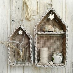 Купить Полка-домик плетеная (2 шт.) - полка-домик, полочка плетеная
