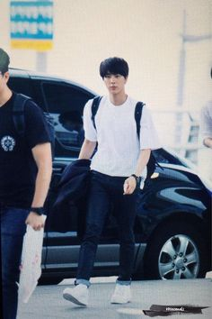 BTS @ 150708  Incheon Airport on their way to Sydney, Australia, first stop  for their  World Tour - TRB 2nd Half