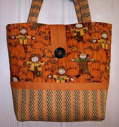 Debbie Mumm fabric was used to make this cute fall tote available on Ebay!