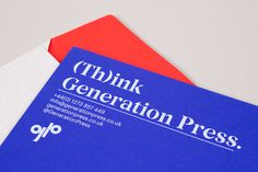 Generation Press - Direct Mail on Behance
