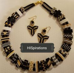 Beaded by HISpirations Beaded Jewelry, Beaded Necklace, Beaded Bracelets, Jewellery, Necklaces, Peyote Patterns, Beading Patterns, Seed Bead Projects, Peyote Beading