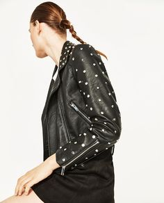 Image 6 of FAUX LEATHER JACKET WITH METALLIC DETAILS from Zara
