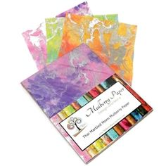 Just in time for Spring- Pastel Marbled Momi paper pack.