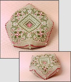 Cherry Blossoms Biscornu Pincushion - Cross Stitch Kit