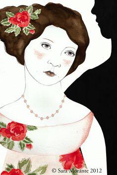 Illustration for a Jane Austen's book * Sara Morante