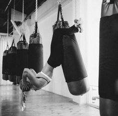 Goal; suspended situps on a punching bag instead of Josh lol