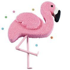 Whether you're celebrating a tropical birthday, a sunny retirement, or just a fun garden party, this Pink Flamingo Cake is sure to be the talk of the town. Made using the 3-Tier Paisley Pan Set, this cool cake decorating idea is a fun addition to any holiday or get-together. Creative decorators could even add holiday décor to their flamingo for a Florida Christmas Party or a whimsical decorations for an Alice in Wonderland themed shower.