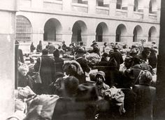 Theresienstadt, Czechoslovakia, Jewish deportees from Netherlands arriving to the ghetto 20/01/1944.