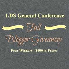 General Conference Giveaway! - Rachael's BookNook