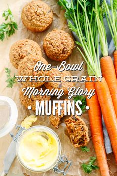 One-Bowl Whole Grain Morning Glory Muffins