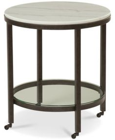 Stratus Round End Table, Created for Macy's Living Room End Tables, Living Room Decor, Round End Tables, Side Tables, Glass Top Coffee Table, Coffee Tables, Circular Table, Nesting Tables, Modern Spaces