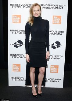 Strike a pose: Diane Kruger was beautiful and dramatic in an all-black ensemble at an even...