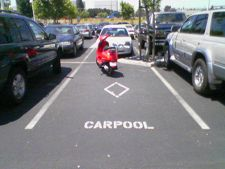 Poor parking in the Yahoo! lot...for cars! #youcantpark #yahoo!lot #forcarsonly #payattention