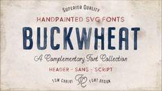 Buckwheat Opentype SVG Fonts ~ Display Fonts ~ Creative Market