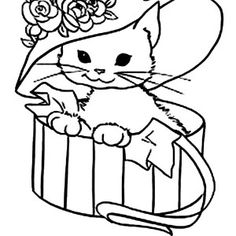This Hilarious Kitty Cat Is Laughing Coloring Page