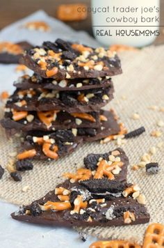 This Copycat Trader Joe's Cowboy Bark recipe is a decadent mix of salty and sweet!