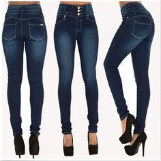 Women's High Waist Elastic Skinny Pencil Jeans