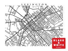 Lexington Map Kentucky Poster Print Horse by CartoCreative