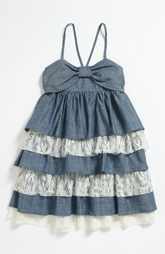 Such a cute little Chambray dress for Isla