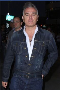 Morrissey (and Solomon) at the Rolling Stones Concert