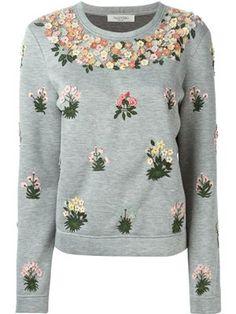 floral embellished sweatshirt