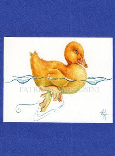 Duckling  ACEO PRINT  open edition  by happyapplebumblebee on Etsy, $5.00