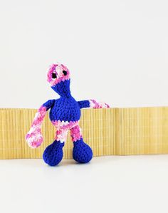Children's toy , Blue and pink Amigurumi doll , Crochet doll , Handmade doll ,Gift for boys , Gifts for kids , Made to order - pinned by pin4etsy.com