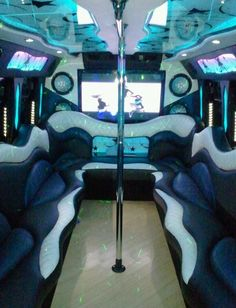The Luxury Austin party bus rental company. Nominated for Austin's top 20 limo services. We also service the San Antonio party bus market. Luxury Motorhomes, Transportation Party, Party Bus Rental, Bus Interior, All White Party, Boutique Ideas, Bus Conversion, Star Party, Limo