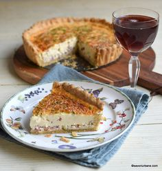 servire quiche lorraine cu must proaspat Quiche Lorraine, Unt, French Toast, Bacon, Food And Drink, Bread, Cookies, Breakfast, Food Ideas